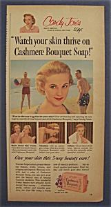 1956 Cashmere Bouquet Toilet Soap with Candy Jones (Image1)