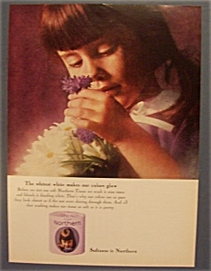 1964 Northern Tissue with a Little Girl Holding Flowers (Image1)