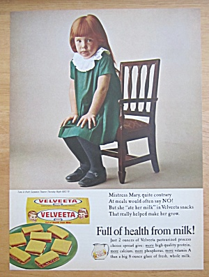 1965 Kraft Velveeta Cheese With Mistress Mary