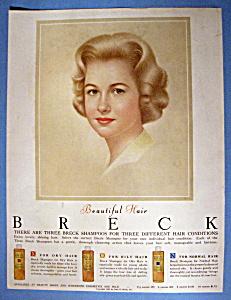 Vintage Ad: 1962 Breck Shampoo w/ Breck Woman (Image1)