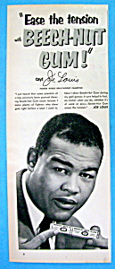 1953 Beech Nut Gum Ad with Boxer Joe Louis (Image1)