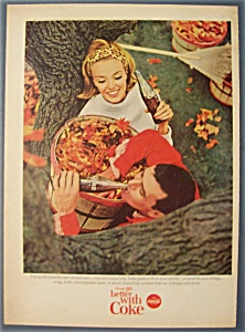 1965 Coca-cola (Coke) With Man & Woman Holding Cokes