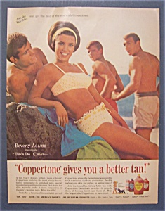 1966 Coppertone Suntan Lotion With Beverly Adams