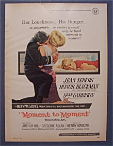 1966 Movie Ad For Moment To Moment