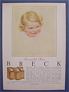 1956 Breck Shampoo w/Little Girl with Blue Eyes (Image1)
