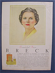 1956 Breck Shampoo w/Woman with Green Eyes & Gray Hair (Image1)