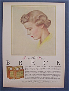 1956 Breck Shampoo w/Brown Haired Woman's Side View (Image1)