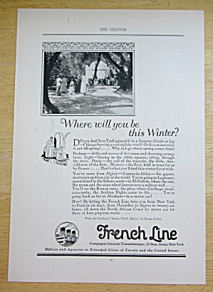 1924 French Line with Where Will You Be This Winter   (Image1)