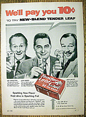 1958 Tender Leaf Tea Bags w/Linkletter, Barry & Bailey (Image1)