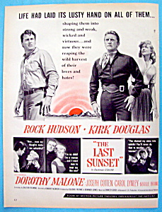 Vintage Ad: 1961 The Last Sunset With Kirk Douglas