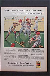 1957 Simoniz Floor Wax with 5 Boys in Baseball Uniforms (Image1)