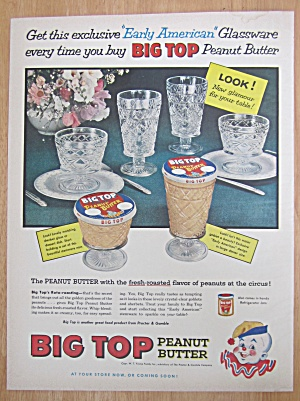 1957 Big Top Peanut Butter w/ Early American Glassware (Image1)