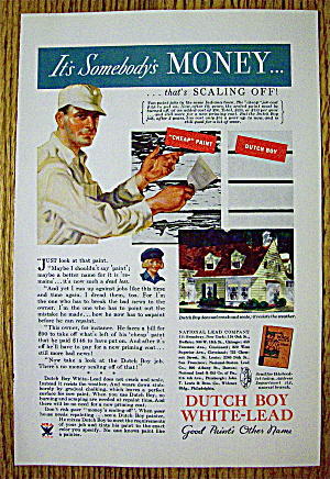 1934 Dutch Boy White Lead Paint with Man Scrapping (Image1)