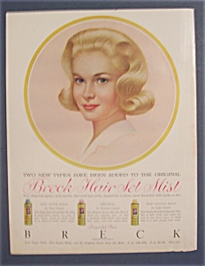 1962 Breck Shampoo w/Lovely Blue-Eyed Blonde Woman  (Image1)