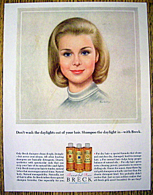 1964 Breck Shampoo with a Lovely Blonde Haired Woman (Image1)