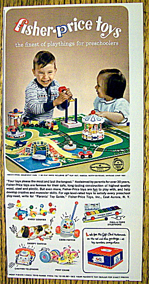 1963 Fisher-price Toys With Children Playing With Toys
