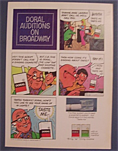 1971 Doral Cigarettes With Doral Auditions On Broadway
