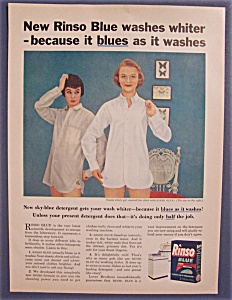 Vintage Ad: 1955 Rinso Blue Detergent (Image1)