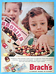 1955 Brach's Assorted Broxies With Girl Digging In Bowl