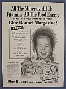1955 Blue Bonnet Margarine