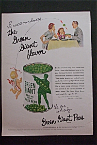 1957 Green Giant Peas with Little Cupid Shooting Arrow  (Image1)