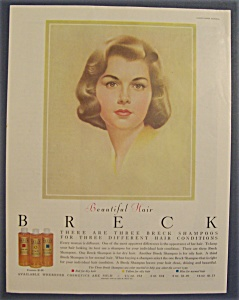 1960 Breck Shampoo w/Lovely Brown Haired Woman (Image1)
