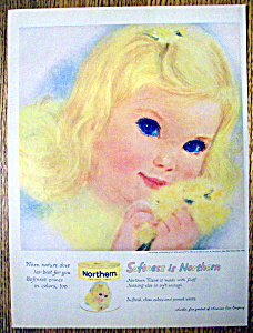 1960 Northern Toilet Tissue w/Lovely Blond Haired Girl (Image1)