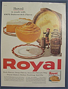 1960 Royal Butterscotch Pudding & Pie Filling