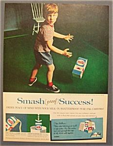 Vintage Ad: 1960  Pure - Pak  Milk  Container (Image1)
