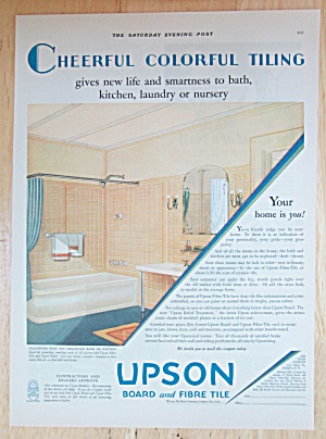 1929 Upson Board & Fibre Tile With Lovely Bathroom