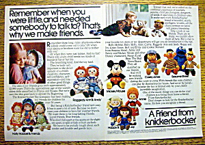 1978 Knickerbocker With Mickey, Raggedy Ann & More