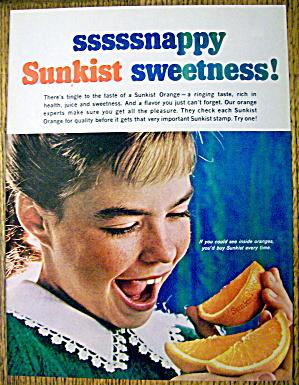 1965 Sunkist Oranges with Girl Eating Orange (Image1)