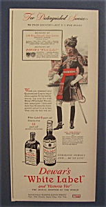 1942 Dewar's White Label Scotch Whiskey