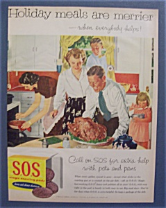 Vintage Ad: 1955 S O S Scouring Pads/Douglas Crockwell (Image1)