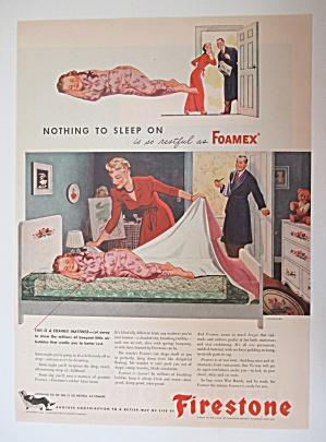 1945 Firestone Foamex Mattress w/ Little Girl Sleeping (Image1)