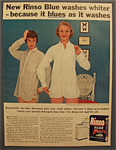 Vintage Ad: 1955 Rinso Blue Laundry Detergent (Image1)