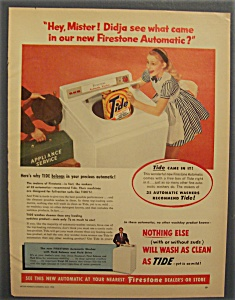Vintage Ad: 1955 Firestone Automatic Washer w/ Tide (Image1)