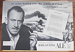 1953 Ballantine Ale with Author John Steinbeck  (Image1)