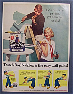 Vintage Ad: 1959 Dutch Boy Nalplex Wall Paint (Image1)