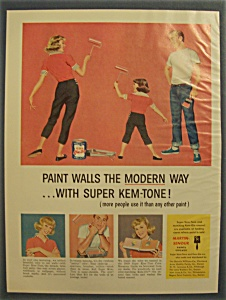 1959 Super Kem-Tone Paints w/Mother & Daughter Painting (Image1)