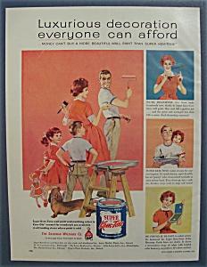 1959 Super Kem Tone Paints w/Man & Woman Painting (Image1)