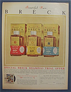 1960 Breck Shampoo with 3 Different Bottles of Shampoo (Image1)