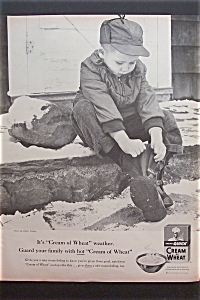 1957 Quick Cream Of Wheat w/Little Boy Putting on Boots (Image1)