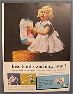 Vintage Ad: 1961  Pure - Pak  Milk (Image1)