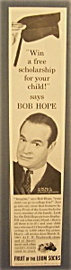 1961 Fruit Of The Loom Socks With Bob Hope