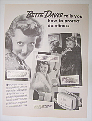 1937 Lux Toilet Soap with Star Bette Davis (Image1)