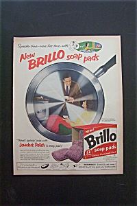 1957 Brillo Soap Pads with a Man & Woman in Frying Pan (Image1)