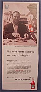 Vintage Ad: 1961 Heinz Tomato Ketchup w/ Arnold Palmer (Image1)