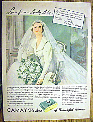 1935 Camay Soap With Lovely Bride