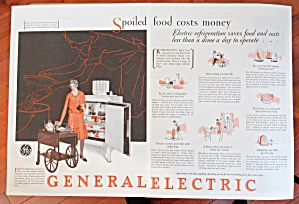 1929 General Electric Refrigerator with Woman & Tray  (Image1)